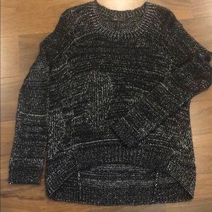 Black/white women's sweater